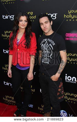 LOS ANGELES - MAY 20:  Bebe Rexha, Pete Wentz arriving at the 2011 Young Hollywood Awards at Club Nokia at LA Live on May 20, 2011 in Los Angeles, CA