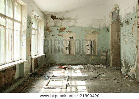 abandoned shabby interior