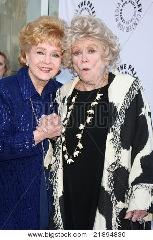 LOS ANGELES - JUN 7:  Debbie Rynolds, Phyllis Diller arrive at the Debbie Reynolds Collection Auction Preview at Paley Center For Media on June 7, 2011 in Beverly Hills, CA