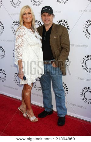 LOS ANGELES - JUN 7:  Catherine Hickland, Todd Fisher arrive at the Debbie Reynolds Collection Auction Preview at Paley Center For Media on June 7, 2011 in Beverly Hills, CA