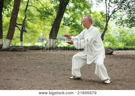 chinese do kung fu - taichi outdoor