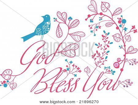 god bless you deco print