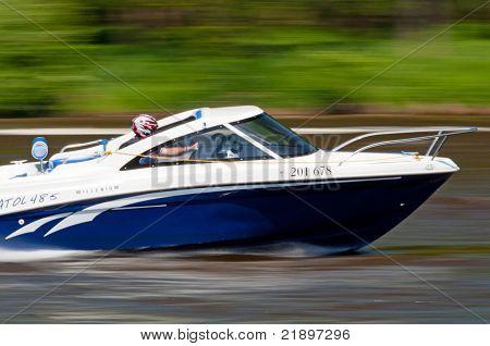 Speedboat In Action