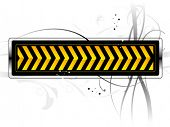 vector danger pattern black with yellow background