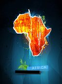image of rastaman  - abstract illustration of the continent Africa - JPG