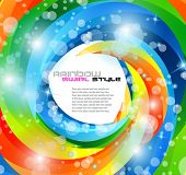 Birthday or party flyer for children or funny parties invitation.White bubble in the middle for your