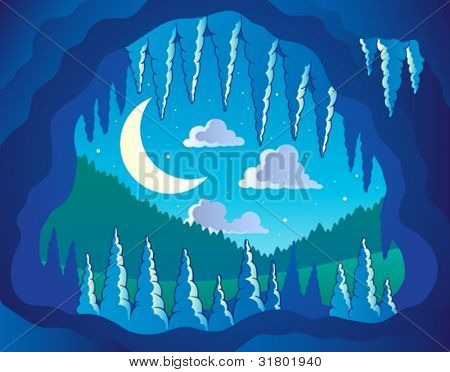 Cave theme image 3 - vector illustration.