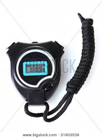 temporizador de deporte electrónico aislado en blanco