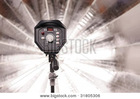 professional powerful studio flash with umbrella