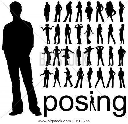 Silhouettes Posing