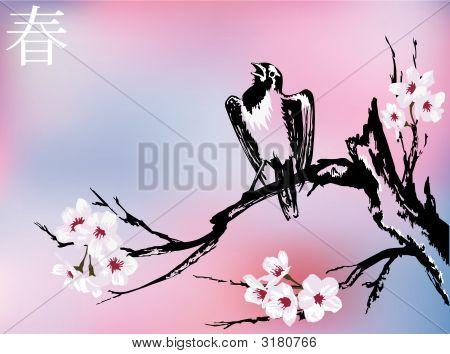 Bird On The Sakura