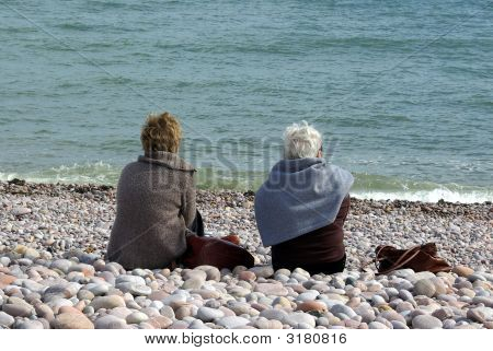 Ladies On A Pebble Beach