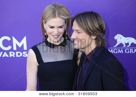 LAS VEGAS - APR 1: Nicole Kidman,Keith Urban at the 47th Annual Academy Of Country Music Awards held at the MGM Grand Garden Arena on April 1, 2012 in Las Vegas, Nevada