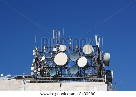 Cluster Of Telecommunication Antennas