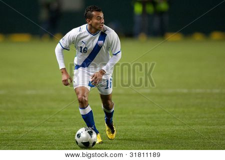 CARSON, CA. - DEC 29: Guatemalan National Team D Jaime Vides #16 during the Club America vs Guatemala holiday soccer friendly
