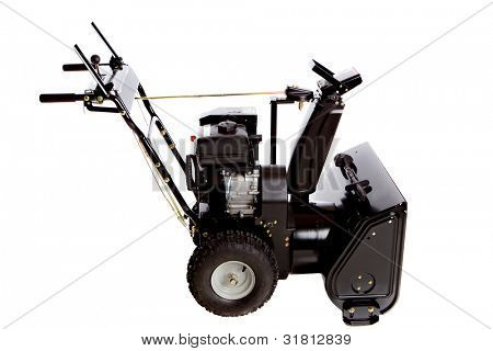 Snow Thrower Isolated on White Background