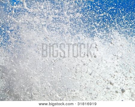 Water Splashing Over Blue Sky
