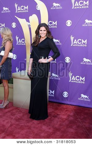 LAS VEGAS - APR 1:  Hillary Scott arrives at the 2012 Academy of Country Music Awards at MGM Grand Garden Arena on April 1, 2010 in Las Vegas, NV.