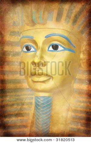 Antigua máscara de Tutankhamon