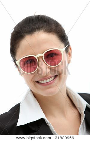Smiling Businesswoman In Modern Glasses