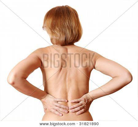 mujer desnuda de espalda