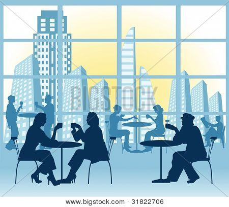 Evening supper Vector (CMYK color profiles)