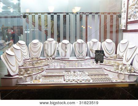 Jewelry store show-window