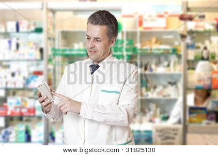 Retrato de farmacéutico