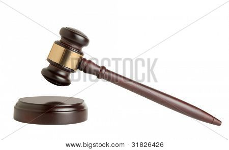 Gavel Isolated