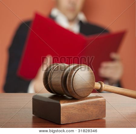 Gavel & male judge