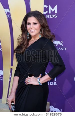 LAS VEGAS - APR 1:  Hillary Scott arrives at the 2012 Academy of Country Music Awards at MGM Grand Garden Arena on April 1, 2012 in Las Vegas, NV.