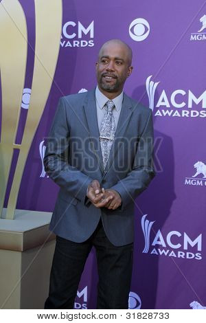 LAS VEGAS - APR 1:  Darius Rucker arrives at the 2012 Academy of Country Music Awards at MGM Grand Garden Arena on April 1, 2012 in Las Vegas, NV.