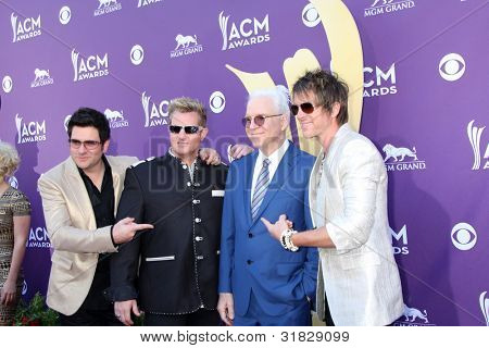 LAS VEGAS - APR 1:  Rascal Flatts, Steve Martin arrives at the 2012 Academy of Country Music Awards at MGM Grand Garden Arena on April 1, 2012 in Las Vegas, NV.