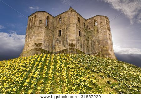 Warkworth Castle In The Sky