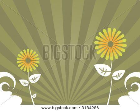Brown Flower Background