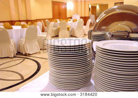 Plates At Banquet