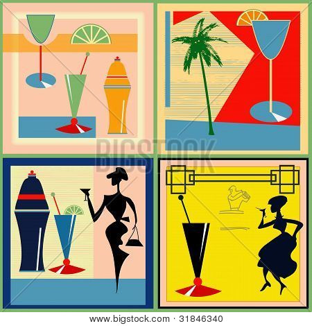 Retro Cocktail Labels