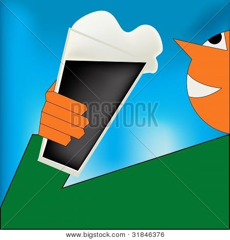 Cheers, Irish Stout Poster