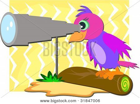 Parrot with Telescope