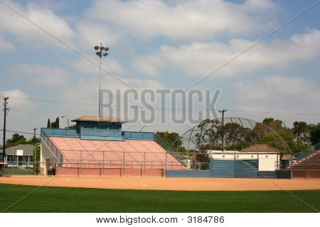Backstop And Stadium Bleachers