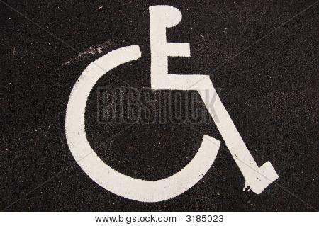 Handicap Sign On Asphalt