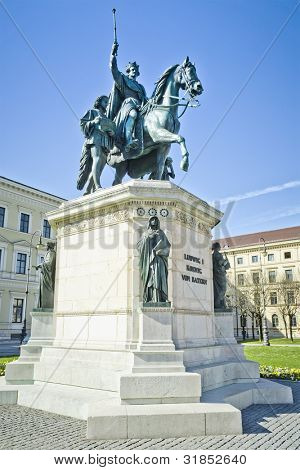 An image of the King Ludwig I statue in Munich Germany