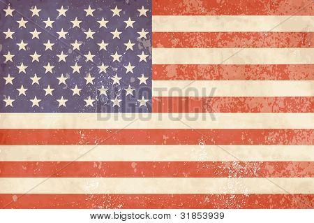 Bandera americana Vintage