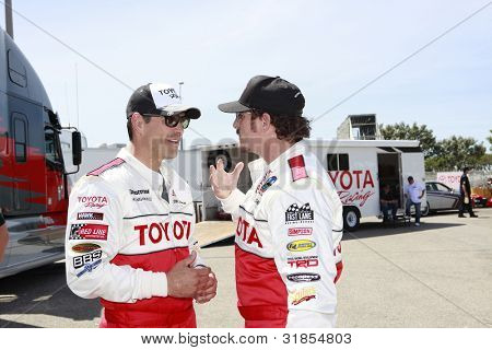 LONG BEACH, CA - APRIL 3: Eddie Cibrian, Kim Coates at the 36th Annual 2012 Toyota Pro/Celebrity Race - Press Practice Day on April 3, 2012 in Long Beach, California