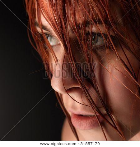 disheveled beauty woman