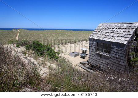 Cape Cod Beach Shack And Ocean