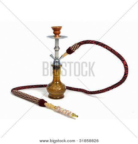 Red hookah isolated on a white background