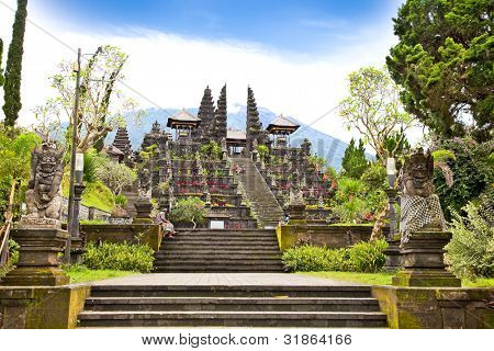 Agung Besakih complex temple on Bali, Indonesia