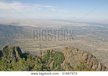 View Over Albuquerque, New Mexico