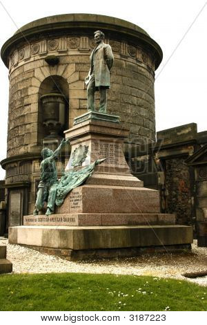 American Civil War Memorial In Edinburgh, Scotland